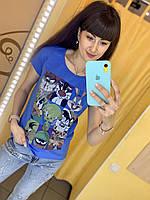 Футболка Жін. S(р) синій 31277-004 RAW Туреччина Літо-C