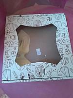 Коробка с окном принт 190/190/30