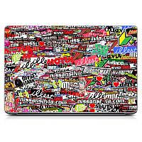 """Универсальная виниловая наклейка на ноутбук 15.6""""-13.3"""" Many stickers Матовая 380х250мм"""