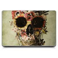 Необычная декоративная наклейка стикер на крышку ноутбука Lady Skull 1 Матовая