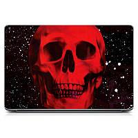 Необычная декоративная наклейка стикер на крышку ноутбука Skull Матовая