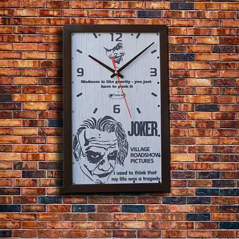 """Настенные часы """" Joker"""", индивидуальная работа."""
