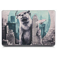 Необычная декоративная наклейка стикер на крышку ноутбука Music animal Матовая
