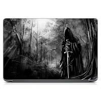 Необычная декоративная наклейка стикер на крышку ноутбука Evil Матовая