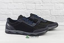 Кросівки чоловічі сітка чорні 42р, фото 2