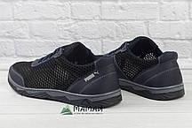 Кросівки чоловічі сітка чорні 42р, фото 3