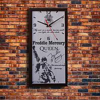 """Стильные настенные часы """"Freddie Mercury"""", индивидуальная работа."""