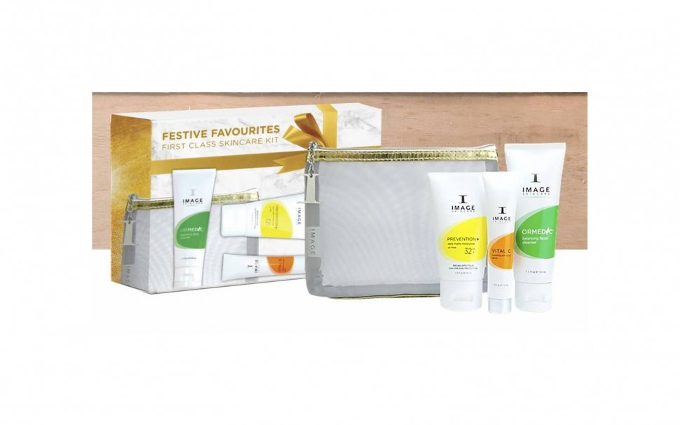 Дорожный набор Image Skincare Festive Favourites Travel Set (f/gel/44ml + d/f/cream/50ml + serum/15ml)