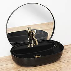 Умывальник (раковина) REA AURA BLACK накладной черный, фото 3