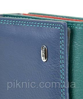 Женский кожаный кошелек, клатч, портмоне Rainbow Dr Bond. Из натуральной кожи. Синий, фото 2