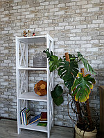 Стеллаж Прованс для дома, 150*50*35 см натуральное дерево