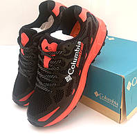 Кроссовки Columbia Montrail,черные с оранжевыми