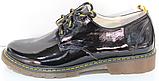 Туфли черные кожаные женские от производителя модель КЛ2150, фото 4