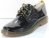 Туфли черные кожаные женские от производителя модель КЛ2150, фото 5