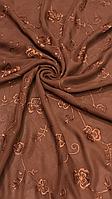 Коричневый шифоновый платок- купить на Kosinka.net