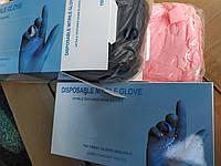 Перчатки нитриловые размер С  голубые, фото 1