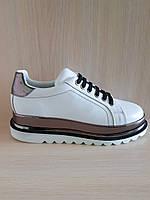 Белые кожаные женские кроссовки Ilvi. Турция