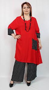 Женский батальный летний костюм Турция, большие размеры 52-64