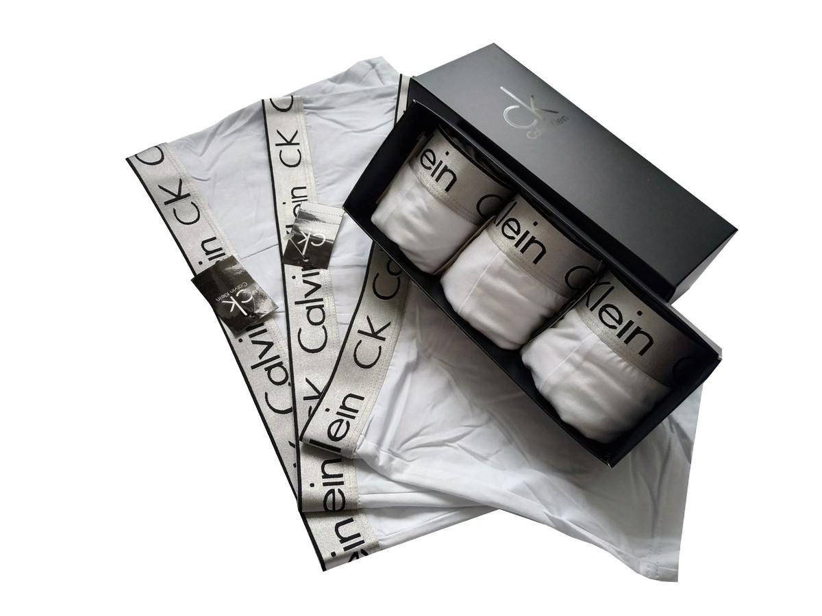 Набор белых мужских трусов Сalvih Kleih Bold (реплика) в брендовой подарочной коробке 3-5 шт