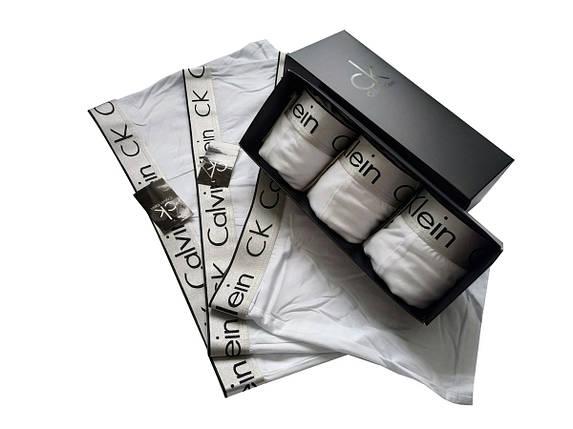 Набор белых мужских трусов Сalvih Kleih Bold (реплика) в брендовой подарочной коробке 3-5 шт, фото 2
