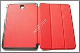 Красный кожаный Smart tri-fold case чехол-книжка для планшета Samsung Tab S2 8.0 T710 T715, фото 2