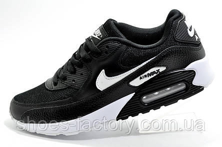 Кроссовки мужские в стиле Nike Air Max 90, Black\White, фото 2