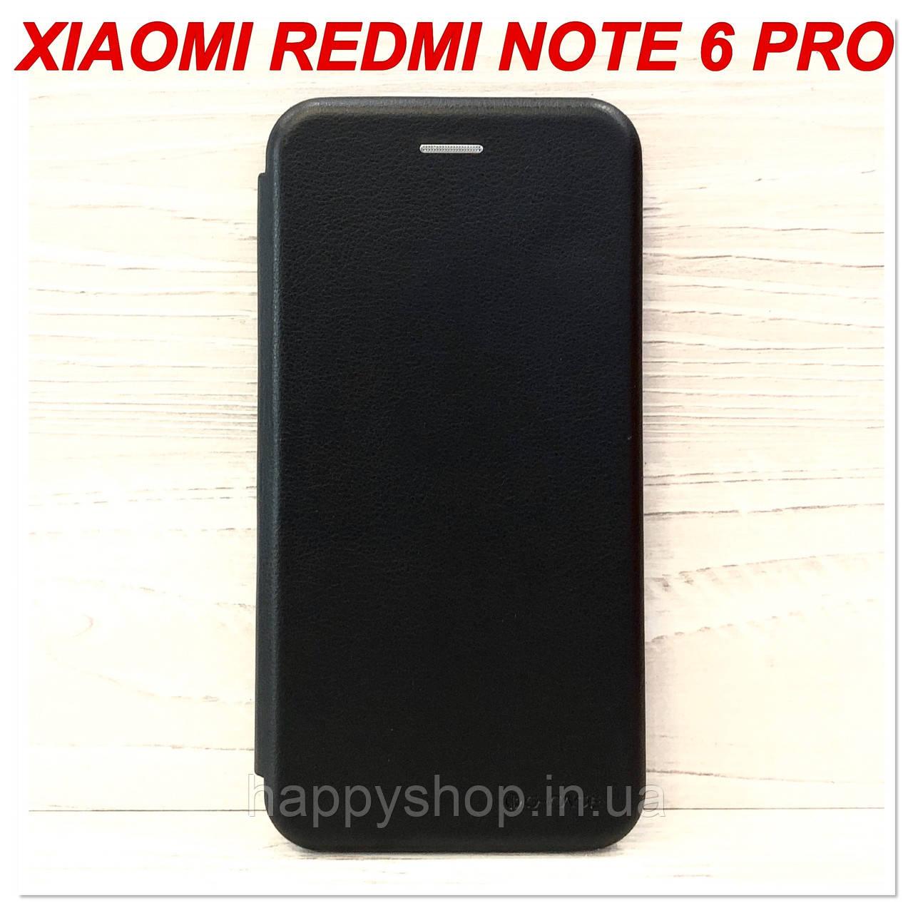 Чехол-книжка G-Case для Xiaomi Redmi Note 6 Pro (Черный)