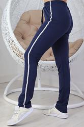 Жіночі трикотажні спортивні штани з лампасом супербатал розміри 56-62
