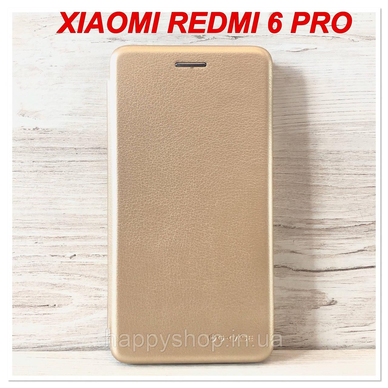 Чохол-книжка G-Case для Xiaomi Redmi 6 Pro (Золотий)