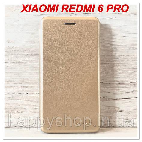 Чохол-книжка G-Case для Xiaomi Redmi 6 Pro (Золотий), фото 2