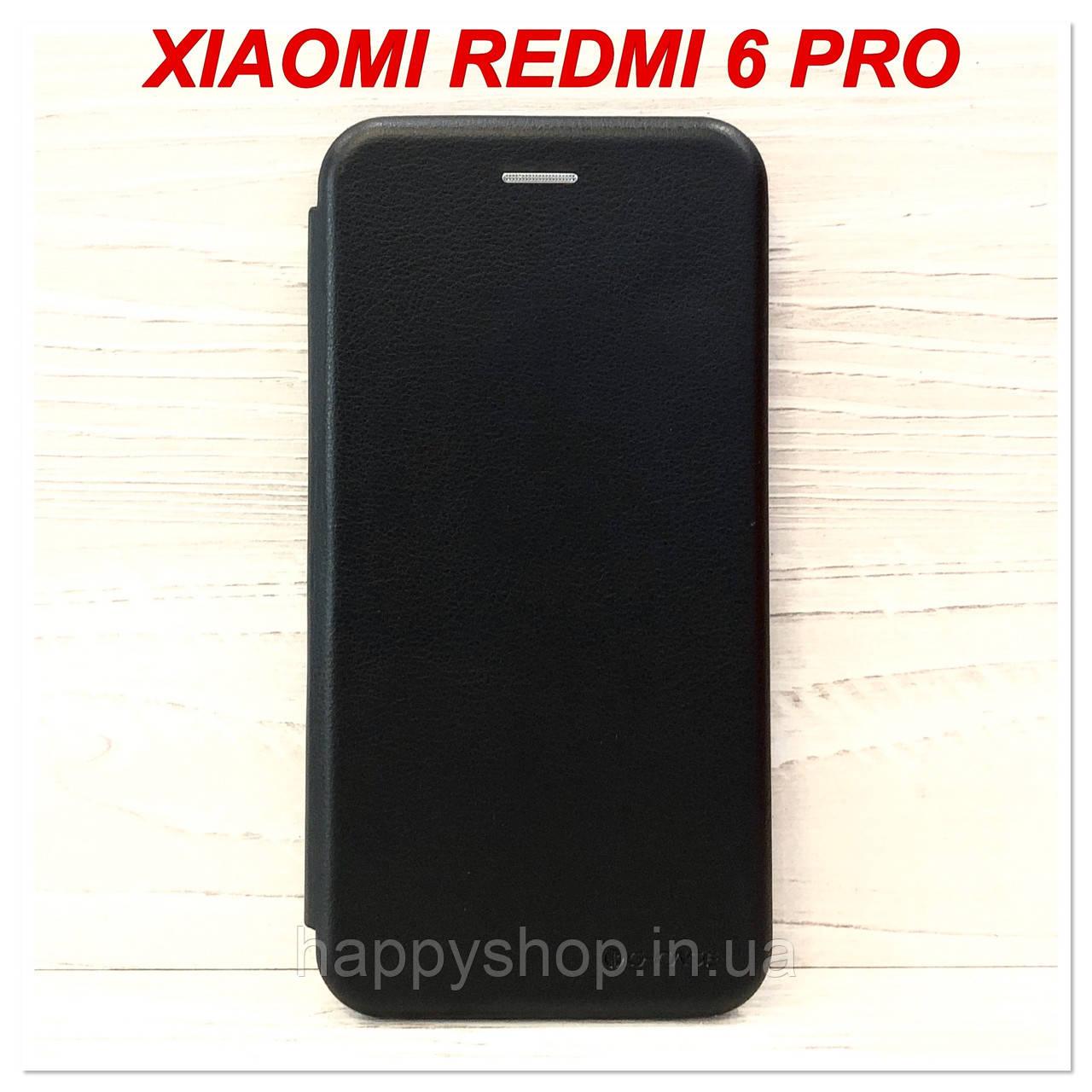 Чехол-книжка G-Case для Xiaomi Redmi 6 Pro (Черный)