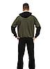 Мужской спортивный костюм из трикотажа демисезонный куртка на молнии вшитый капюшон, фото 3