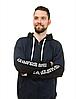 Мужской спортивный костюм из трикотажа демисезонный куртка на молнии вшитый капюшон, фото 4