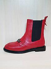 Женские ботинки красные N55. Турция