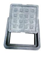 Люк ревизионно-смотровой полимерпещаный, квадратный  300*300 зеленный