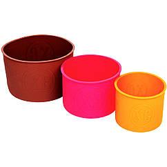 Набор силиконовых форм для пасхи Высота 10см, диаметры 14,12,9см