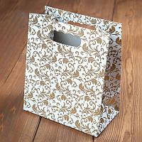 Пакет для каравая с золотыми листочками (арт. C-0022)