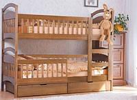Двухярусная кровать Venger Арина-авангард + 2 ящика 80х190 орех лесной