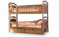 Двухярусная кровать Venger Арина + 2 ящика 80х190 орех лесной