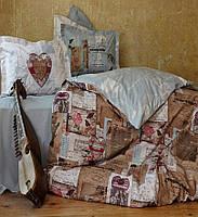 Двуспальное евро постельное белье KARACA HOME винтаж DREAMER