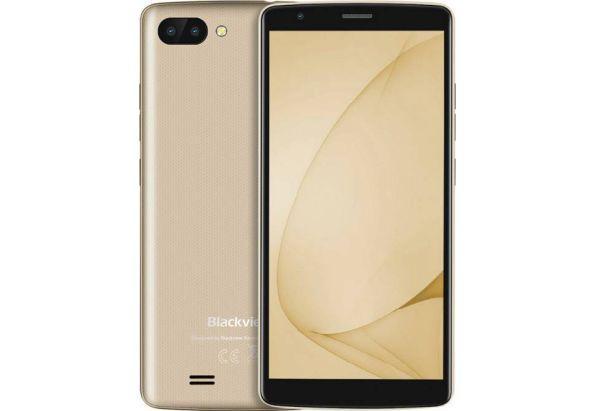 """Смартфон со сканером отпечатков пальцев и двойной камерой с 4G 5,5"""" 2/16Gb Blackview A20 Pro золотой"""