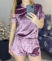 Жіноча піжамка футболка і шорти оптом і в роздріб
