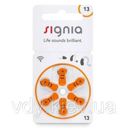 Батарейки для слуховых аппаратов Signia 13, 6 шт.