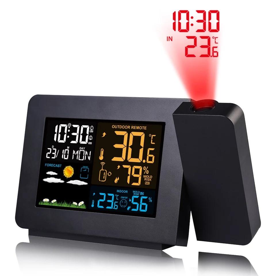 Домашняя цифровая метеостанция FanJu FJ3391 с проекционными часами