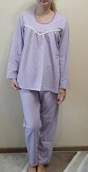 Теплая пижама байковая женская зимняя с начесом хлопковая комплект домашний кофта и штаны