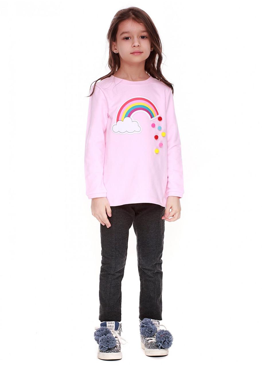 Кофта для девочек радуга