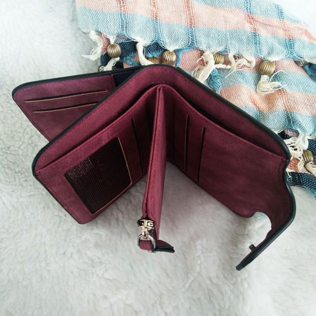 Кошелёк женский Baellerry Forever mini бордовый Балери мини - в магазине Palermo.com.ua