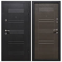 Дверь входная Министерство Дверей мет/мдф ПУ-132 Венге горизонт серый 2050х860мм правая