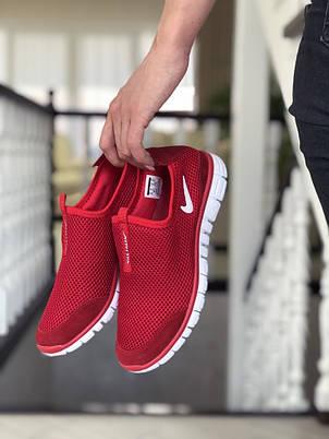 Женские кроссовки летние Nike Free Run 3.0,красные, фото 2