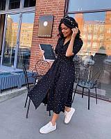Платье женское в горошек 42-44 44-46 46-48